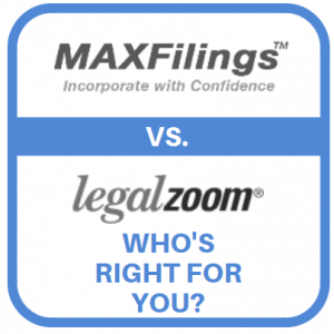 MaxFilings vs LegalZoom